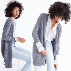 Madewell Grey Kent Wool Blend Cardigan Sweater Top